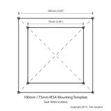 VESA 100m / 75mm mounting template
