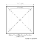 VESA 100m / 75mm mounting template